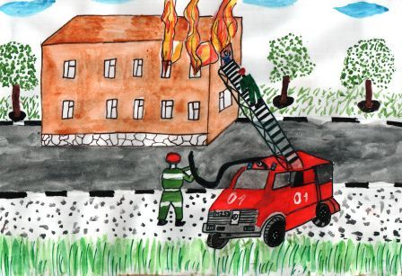 Как нарисовать человека пожарного